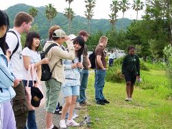 Interacting with International Students (outside)